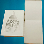 Notepads in Amalfi handmade paper. 100% cotton sheets ideal for architectural drawing