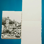 Amalfi handmade paper sketchbook with a picture of ancient Amalfi on the cover