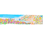Bookmarks to print with custom images on Amalfi paper