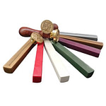 Customizable stamps and sealing wax