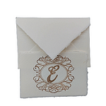 Wedding table markers made with Amalfi paper customizable with monogrammed initial