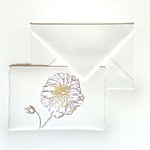 Placeholders for wedding with flowers made of Amalfi handmade paper.