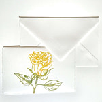 Placeholder with Amalfi handmade paper envelope with a yellow rose decoration