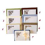 Amalfi paper place cards with handmade prints and vintage decorations